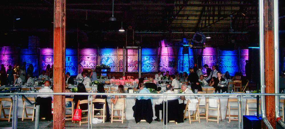Holcim Gallery during an evening event.<br />