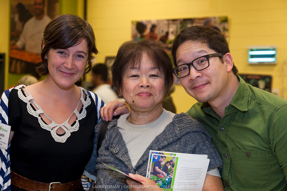 """Meredith and her partner? at the launch party of """"share"""", FoodShare's 1st cookbook. Nov. 14, 2012"""