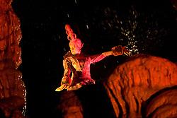 """Multimedijska predstava Magicnega gledalisca Serpentes """"Gajino kraljestvo v Postojnski jami"""". V predstavi nastopajo karakterne likinje Ognjena kraljica, Zmajevka, Pernata kaca, Zlatoroga, Adalina,... in osrednja figura boginja Gaja. Koprodukcija Magicno gledalisce Serpentes, Liberty Incentives & Congresses Slovenia, Turizem Kras in Interplan. 12. november 2008, Postojnska jama, Postojna, Slovenija. (Photo by Vid Ponikvar / Sportida)"""