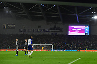 Football - 2019 / 2020 Premier League - Brighton & Hove Albion vs. Leicester City<br /> <br /> VAR checks Leicester City's James Maddison's goal after Jamie Vardy's penalty is saved, but the penalty is retaken with Vardy scoring after encroachment, at The Amex.<br /> <br /> COLORSPORT/ASHLEY WESTERN