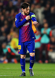 Lionel Messi of Barcelona wears the captains armband - Mandatory by-line: Matt McNulty/JMP - 14/03/2018 - FOOTBALL - Camp Nou - Barcelona, Catalonia - Barcelona v Chelsea - UEFA Champions League - Round of 16 Second Leg