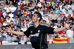 Real Madrid's Ricardo Kaka celebrates goal during la Liga match on April 23rd 2011.