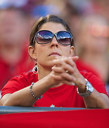 CHICAGO, USA - Sunday, July 27, 2014: A Liverpool supporter during the International Champions Cup Group B match against Olympiacos at the Soldier Field Stadium on day seven of the club's USA Tour. (Pic by David Rawcliffe/Propaganda)