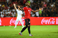 NONTHABURI, THAILAND - JULY 09: Heberty of SCG Muangthong reaction during the second half of the Thai League: SCG Muangthong United vs Buriram United at SCG Stadium, Nonthaburi, Thailand on July 09, 2017.<br /> .<br /> .<br /> .<br /> (Photo by: Naratip Golf Srisupab/SEALs Sports Images)<br /> .<br /> Any image use must include a mandatory credit line adjacent to the content which should read: Naratip Golf Srisupab/SEALs Sports Images