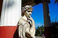 Grece, iles Ioniennes, Corfou, Achilleion, palais neoclassique de l Imperatrice Elisabeth d Autriche, la celebre Sissi // Greece, Ionian island, Corfu island, Achilleion palace of Empress Elisabeth of Austria well know as Sissi