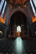Inside Liverpool Cathedral, the longest church in the world.