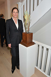 MINNIE CECIL at a private view of work & workings of Nic Fiddian Green - The Studio held at Sladmore Contemporary, 32 Bruton Place, London on 9th June 2015.