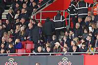 Football - 2018 / 2019 Premier League - Southampton vs. Tottenham Hotspur<br /> <br /> Tottenham Hotspur Manager Mauricio Pochettino leaves  his seat in the stand as he serves the first of his two match touchline ban just after Harry Kane of Tottenham scores at St Mary's Stadium Southampton<br /> <br /> COLORSPORT/SHAUN BOGGUST
