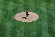Jose Fernandez #16 of the Miami Marlins pitches against the Minnesota Twins in Game 1 of a split doubleheader on April 23, 2013 at Target Field in Minneapolis, Minnesota.  The Twins defeated the Marlins 4 to 3.  Photo: Ben Krause