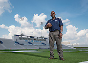 Andre Walker poses for a photograph at Delmar Stadium, September 24, 2015.