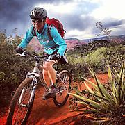 Mountain Biking. Sedona, Arizona.