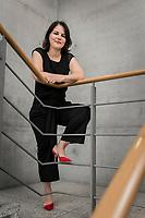 02 JUL 2019, BERLIN/GERMANY:<br /> Annalena Baerbock, MdB, B90/Gruene, Parteivorsitzende, Jakob-Kaiser-Haus, Deutscher Bundestag<br /> IMAGE: 20190702-01-043