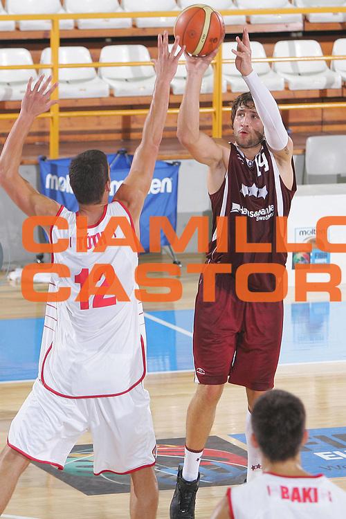 DESCRIZIONE : Gorizia Nova Gorica U20 European Championship Men Campionato Europeo<br /> GIOCATORE : Ronalds Zakis<br /> SQUADRA : Latvia Lettonia <br /> EVENTO : Gorizia Nova Gorica U20 European Championship Men Campionato Europeo<br /> GARA : Ungheria Hungary Latvia Lettonia <br /> DATA : 10/07/2007<br /> CATEGORIA : Tiro<br /> SPORT : Pallacanestro <br /> AUTORE : Agenzia Ciamillo-Castoria/S.Silvestri