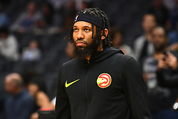 January 28, 2019 - Los Angeles, CA, U.S. - LOS ANGELES, CA - JANUARY 28: Atlanta Hawks Forward DeAndre' Bembry (95) looks on before a NBA game between the Atlanta Hawks and the Los Angeles Clippers on January 28, 2019 at STAPLES Center in Los Angeles, CA. (Photo by Brian Rothmuller/Icon Sportswire) (Credit Image: © Brian Rothmuller/Icon SMI via ZUMA Press)