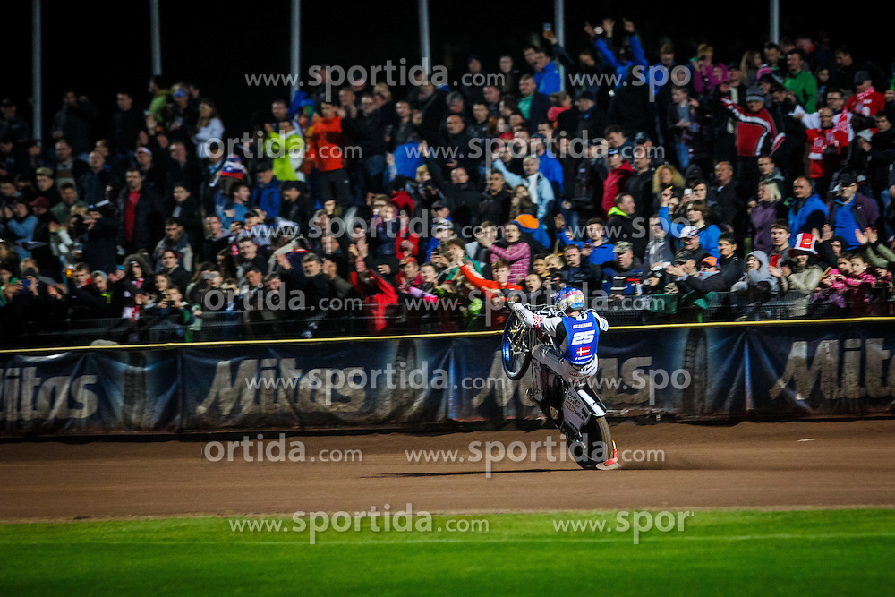 PETER KILDEMAND of Denmark after winning the FIM Speedway Grand Prix World Cup, Krsko, on 30. April, 2016, in Sports park Krsko, Slovenia. Photo by Grega Valancic / Sportida