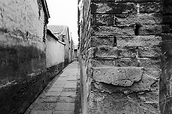 Narrow alley or hutong in Beijing China