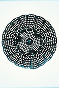 abstract silhouette of strainer