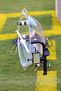 SAN DIEGO, CA - AUGUST 30:  A television sound capturing dish on the grass at the San Diego Chargers NFL preseason game with the San Francisco 49ers at Qualcomm Stadium on August 30, 2007 in San Diego, California. The Chargers defeated the 49ers 16-13. ©Paul Anthony Spinelli
