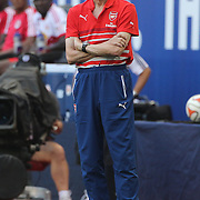 Arsene Wenger, Manger of Arsenal, on the touchline during the New York Red Bulls Vs Arsenal FC,  friendly football match for the New York Cup at Red Bull Arena, Harrison, New Jersey. USA. 26h July 2014. Photo Tim Clayton