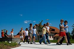 Schoolars at excursion, on May 28, 2009, in Sentjernej, Slovenia. (Photo by Vid Ponikvar / Sportida)