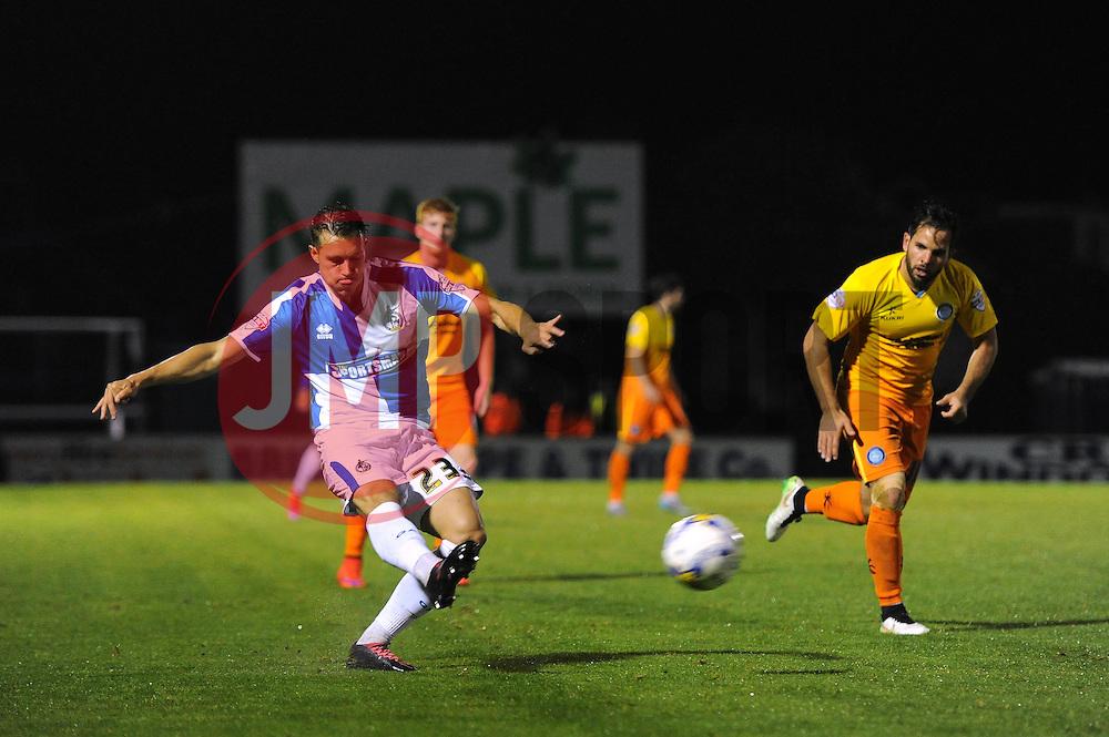 Billy Bodin of Bristol Rovers crosses the ball into the box - Mandatory byline: Dougie Allward/JMP - 07966 386802 - 06/10/2015 - FOOTBALL - Memorial Stadium - Bristol, England - Bristol Rovers v Wycombe Wanderers - JPT Trophy