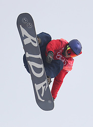 Great Britain's Billy Morgan on his way to a bronze medal in the Men's Snowboarding Big Air Final at the Alpensia Ski Jumping Centre during day fifteen of the PyeongChang 2018 Winter Olympic Games in South Korea.