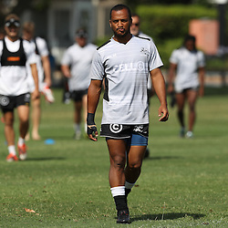 Rhyno Smith during The Cell C Sharks High CNS Rugby / Skills / Field Conditioning KP2, session at Growthpoint Kings Park in Durban, South Africa. December 9th December 2016 (Photo by Steve Haag)<br /> <br /> images for social media must have consent from Steve Haag