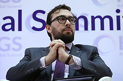 October 5, 2018 - Kyiv, Ukraine - Head of the NATO Delegation to Ukraine Alexander Vinnikov partakes in the Kyiv Global Summit Women. Peace. Security, Kyiv, capital of Ukraine, October 5, 2018. The event is dedicated to the peaceful settlement of military conflicts, solutions to a humanitarian crisis and the involvement of women in the peace-keeping process. Ukrinform. (Credit Image: © Danil/Ukrinform via ZUMA Wire)
