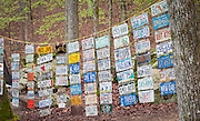 Virgins at the Barkley are required to bring a license plate from their home state or country as part of their entry.