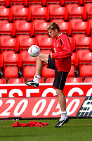 Photo. Richard Lane<br />Southampton FC FA Cup Preview Day at St. Mary's. 13/05/2003.<br />Top goal scorer, James Beattie.