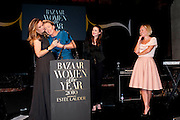 LUCY YEOMANS; EMMA THOMPSON; HAYLEY ATWELL; MARIELLA FROSTRUP, Harpers Bazaar Women of the Year Awards. North Audley St. London. 1 November 2010. -DO NOT ARCHIVE-© Copyright Photograph by Dafydd Jones. 248 Clapham Rd. London SW9 0PZ. Tel 0207 820 0771. www.dafjones.com.