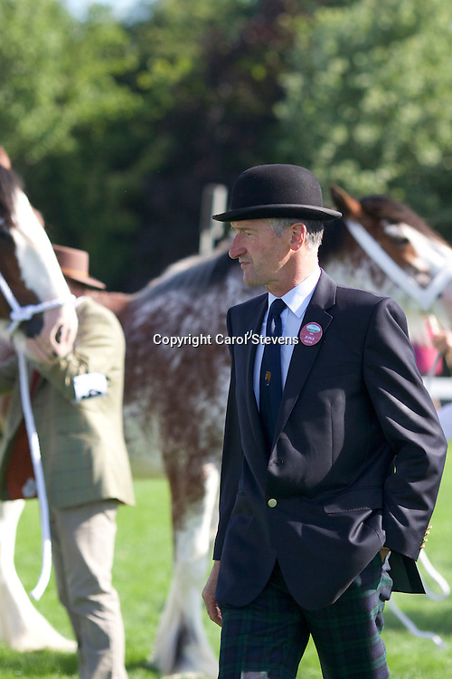 Clydesdale and Heavy Horse Turnout Judge Mr T Tenant, Selkirk, Scottish Borders