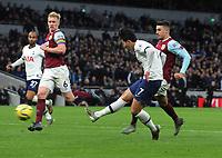 Football - 2019 / 2020 Premier League - Tottenham Hotspur vs. Burnley<br /> <br /> Heung - Min Son of Spurs scores goal no 3, at the Tottenham Hotspur Stadium.<br /> <br /> COLORSPORT/ANDREW COWIE