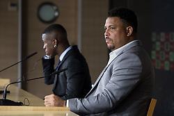 July 20, 2018 - Madrid, Spain - Ronaldo and Vinicius Jr during press conference of his presentation as new Real Madrid player at Santiago Bernabéu Stadium in Madrid, Spain. July 20, 2018. (COOLMEDIA/BorjaB.Hojas) (Credit Image: © Coolmedia/NurPhoto via ZUMA Press)