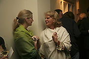 Tina gehrig and Nanette Gehrig, VIP opening of Bill Viola exhibition Love/Death: The Tristan project. Haunch of Venison, St Olave's College, Tooley St. London and Dinner afterwards at Banqueting House. Whitehall. 19 June 2006. ONE TIME USE ONLY - DO NOT ARCHIVE  © Copyright Photograph by Dafydd Jones 66 Stockwell Park Rd. London SW9 0DA Tel 020 7733 0108 www.dafjones.com