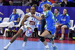 France player Estelle Nze Minko during the Women's european handball chanmpionship preliminary round, Slovenia vs France. Nancy, Fance -02/12/2018//POLEMILE_01POL20181202NAN014/Credit:POL EMILE / SIPA/SIPA/1812021731
