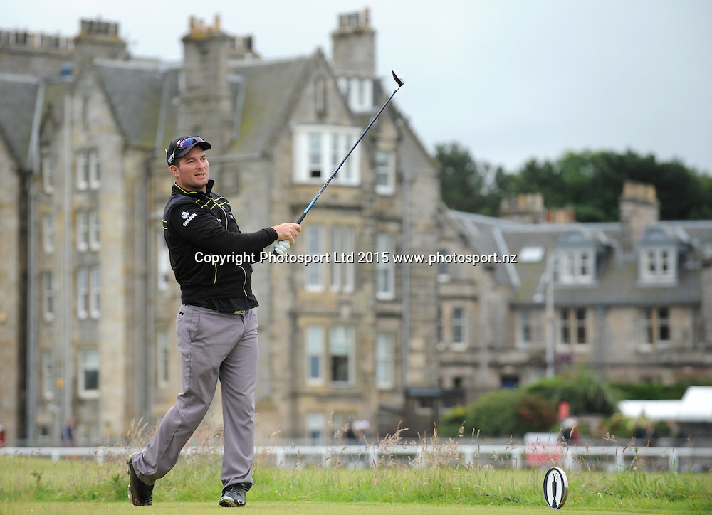 New Zealand's Ryan Fox during the first round of the 144th Open Championship at The Old Course on July 16, 2015 in St Andrews, Fife.<br /><br />16 July 2015. Picture by Jane Barlow.<br /><br />&copy; Jane Barlow 2015 {all rights reserved}<br />janebarlowphotography@gmail.com<br />m: 07870 152324