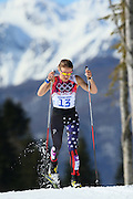 """Sophie CALDWELL (USA),<br /> FEBRUARY 13, 2014 - Cross Country Skiing : <br /> Women's 10km <br /> at """"LAURA"""" Cross-Country Ski & Biathlon Center <br /> during the Sochi 2014 Olympic Winter Games in Sochi, Russia. <br /> (Photo by Yohei Osada/AFLO SPORT)"""