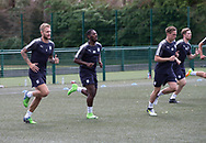 Dundee keeper Scott Bain and new boys Roarie Deacon and Scott Allan during pre-season testing at University Grounds, Riverside, Dundee, Photo: David Young<br /> <br />  - &copy; David Young - www.davidyoungphoto.co.uk - email: davidyoungphoto@gmail.com