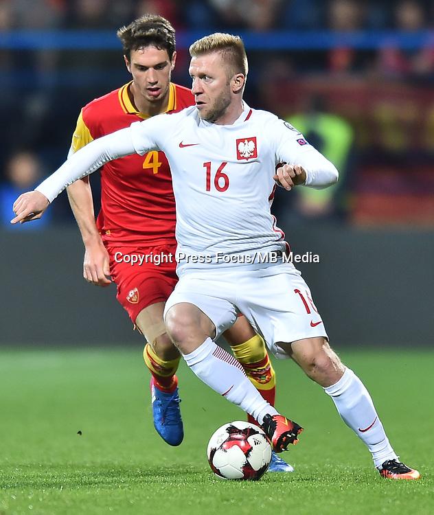 2017.03.26 Podgorica<br /> Pilka nozna kadra reprezentacja<br /> Eliminacje Mistrzostw Swiata Rosja 2018<br /> Czarnogora - Polska<br /> N/z Jakub Blaszczykowski<br /> Foto Lukasz Laskowski / PressFocus<br /> <br /> 2017.03.26 Podgorica<br /> Football <br /> FIFA 2018 World Cup Qualifying game between Montenegro and Poland<br /> Jakub Blaszczykowski<br /> Credit: Lukasz Laskowski / PressFocus