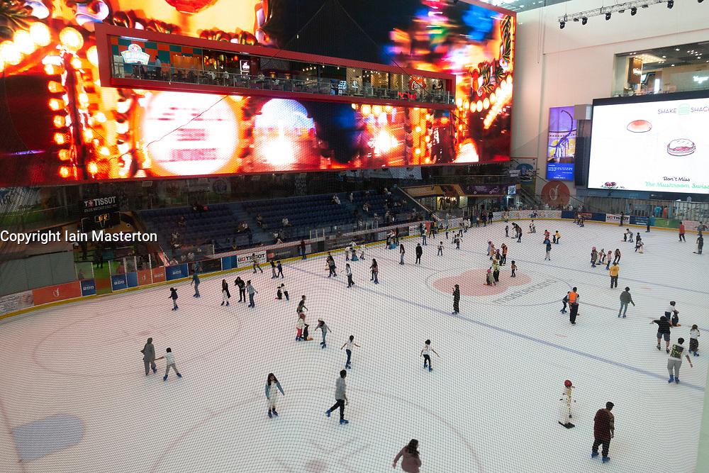 Ice Rink inside Dubai Mall, UAE