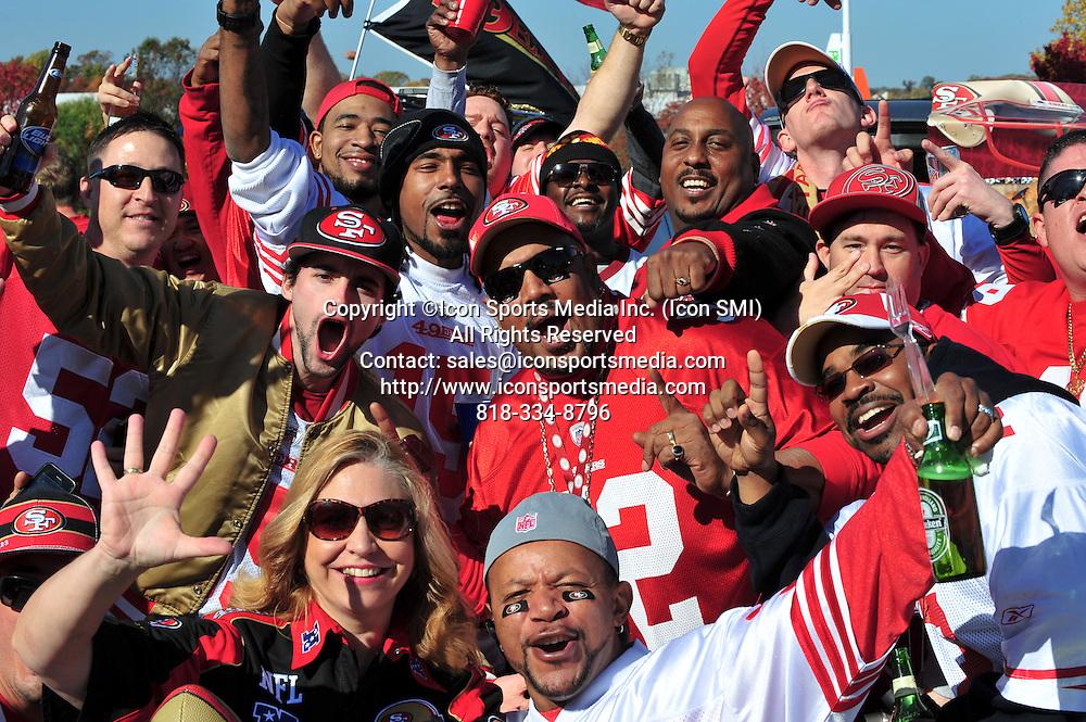 Nov. 06, 2011 - Landover, Maryland, United States of America - Washington Redskins Fan NFL game action at FedEx Field, final score; 49ers 19 Redskins 11