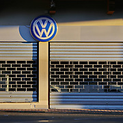Milan, Italy - October 16, 2015 : a dealer of Volkswagen closed