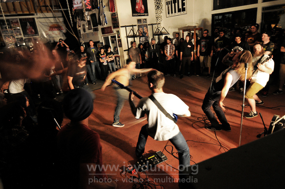 Gonzales' The Art of Torture in mid-set on Saturday. In a well-attended, all-ages music event organized by Salinas' own In Your Face Productions, five area metal bands played their hearts out at the Rock Boxing Gym on East Alisal Street.