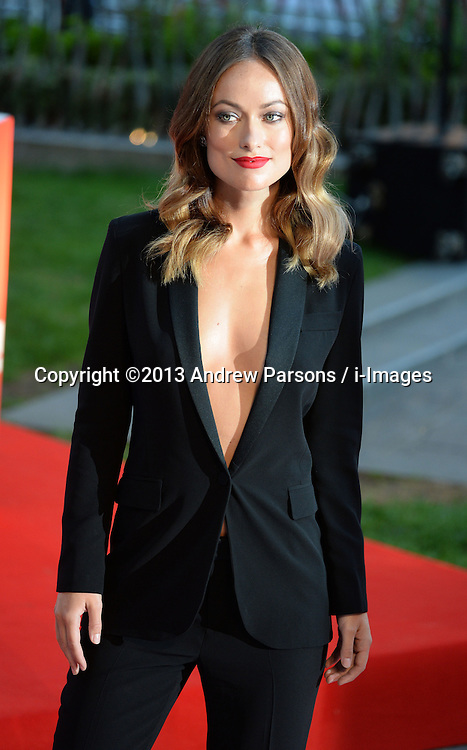 Rush - UK film premiere. <br /> Actress Olivia Wilde during the 'Rush' - UK film premiere, Odeon, London, United Kingdom. Monday, 2nd September 2013. Picture by Andrew Parsons / i-Images