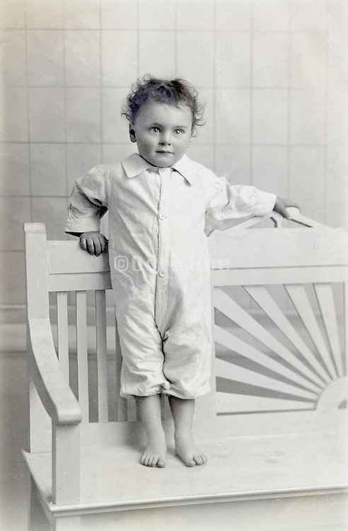 early 1900s little child casual looking portrait