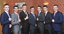 Pictured at the recentTranistion Year Ball held at Hotel Westport <br /> from left Alan McHale, Andrew Currid, Louis Hoban, Declan Shanahan, Michael Brady, Luca O'Riain and James Treacy.<br /> Pic Conor McKeown
