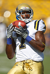 October 9, 2010; Berkeley, CA, USA;  UCLA Bruins fullback Morrell Presley (7) catches a pass during warm ups before the game against the California Golden Bears at Memorial Stadium. California defeated UCLA 35-7.