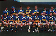Tipperary-All-Ireland Hurling Champions 1991. Back Row: Colm Bonnar, Cormac Bonnar, Noel Sheehy, Ken Hogan, Declan Ryan, John Leahy, Bobby Ryan. Front Row: Nicholas English, Michael Cleary, Michael Ryan, Aidan Ryan, Declan Carr (capt), Pat Fox, Conal Bonnar, Paul Delaney.