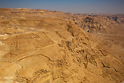 Remains of the Roman besiegers at  the foot of Masada national park, Israel